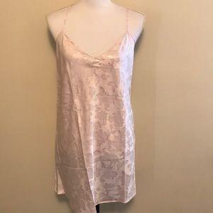 Victoria's Secret Blush satin slip lingerie Large